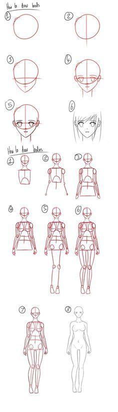como dibujar a una chica manga:
