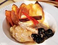 Цимес из индейки со сладким картофелем