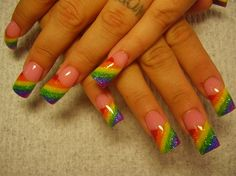 rainbow - Nail Art Gallery I would like to try this in other colors