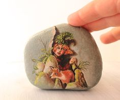 Painted stone.Painted rock Ready to ship.Express Free by sabiesabi