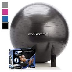 DYNAPRO Exercise Ball 2000 lbs Stability Ball Professional Grade Anti Burst Exercise Equipment for Home Balance Gym Core Strength Yoga Fitness Desk Chairs Black 75 Centimeters ** Check out the image by visiting the link. (This is an affiliate link) Strength Yoga, Strength Training, Easy Workouts, At Home Workouts, Yoga Fitness, Physical Fitness, Balance Gym, Desk Workout, House Workout