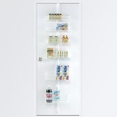 The Container Store > White elfa Door & Wall Rack System Components