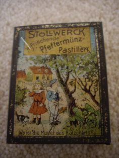 Peppermint pastille Stollwerck miniature tin