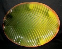 Banana+Leaf+Plate   Large Oval Banana Leaf & 26-Piece Melamine Dinnerware Banana Leaf Plates Green Set (FDA ...