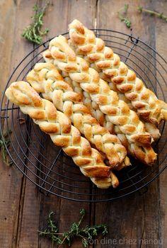 Tresses de pain au thym