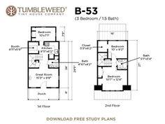 Sebastarosa Plans Tumbleweed Tiny House Company St Floor Has - B53 tumbleweed house