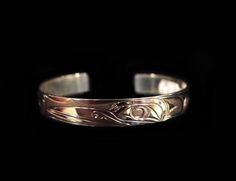 "Hummingbird Bracelet, Joe Descoteaux, Ojibway. Sterling silver, 0.38"". Northwest Coast First Nations Jewelry."