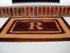 monogrammed doormat how to
