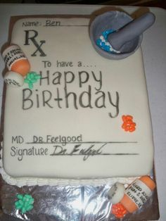 Nurses week prescription cake