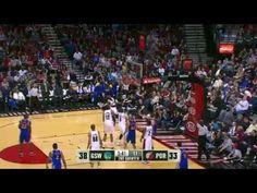 NBA CIRCLE - Golden State Warriors Vs Portland Trail Blazers Highlights March 25, 2012
