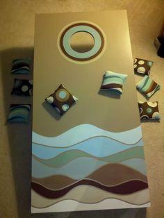 girly cornhole boards .. julie devine style