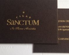 700gsm colorplan bitter chocolate; foils; gold, gold edged. Please visit our website at www.ultimatebusin... for further information on our range of custom made business cards.