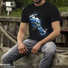 """Nab one of our #unique #abstract #bluejay #designer #fitted #tees """"Eternal Gaze"""" now available from our @society6 store. Check it out here http://society6.com/product/eternal-gaze_t-shirt#11=49&4=75 This #cool #design is also available as #designer #totebags #bikertanks #canvasprints #framedartprints #tees #throwpillows #mugs #wallclocks #showercurtains #ipadcases #iphonecases #graphicdesign #tanktops #clothing #apparel #fashion #graphics #tshirt #society6"""