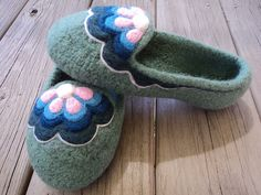 Ravelry: Slip On Felted Knit Slippers for Women pattern by Monique Rae
