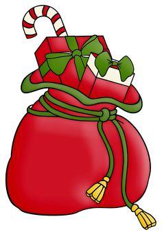 CHRISTMAS SACK CLIP ART