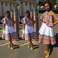 Pedi Traditional Attire, Sepedi Traditional Dresses, South African Traditional Dresses, Xhosa Attire, African Attire, African Inspired Fashion, African Fashion Dresses, African Clothes, Seshweshwe Dresses