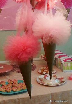 Ice Cream Party: tulle cones