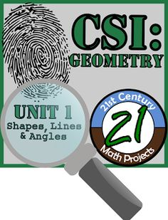 21st Century Math Projects -- Engaging Middle & High School Real World Math Projects: CSI: Geometry -- International STEM Project