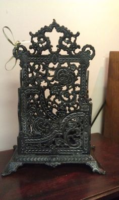 Ornate Iron Victorian Style Letter Holder