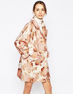 Ganni Pheasant Flower Print Coat | ASOS