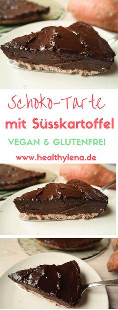 Schoko suesskartoffel tarte vegan glutenfrei fettarm ohne Zucker ohne Soja gesund