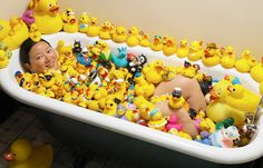 Charlotte Lee (USA) has 5,631 different rubber ducks, as of 10 April 2011, which she has been collecting since 1996.