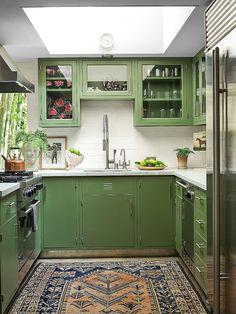 Architectural Digest, Brown Kitchens, Home Kitchens, Ikea Kitchens, Dakota Johnson, Midcentury Modern, Johnson House, Small Space Kitchen, Small Spaces