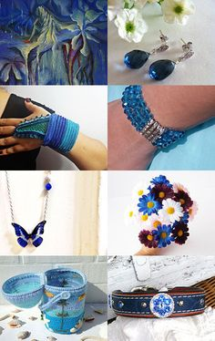 Pretty Blues by ROSE B on Etsy--Pinned with TreasuryPin.com