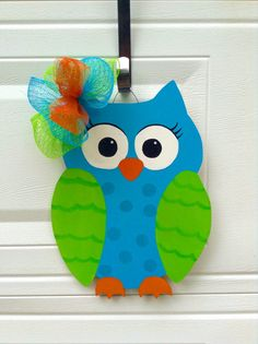 Owl Teacher Door Decor. Back to School by MoniLulis on Etsy, $35.00