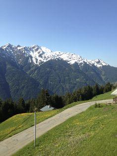 Uitzicht op le mont Mirantin