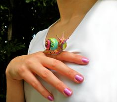 Candy Snail Ring