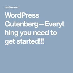 In WordPress aims at modernizing and simplifying the content creation experience with Gutenberg. Its name comes from Johannes Gutenberg, the founder of the printing press. Johannes Gutenberg, Get Started, Editor, Everything, Blogging, Wordpress, How To Get, Group, Board