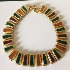 Vintage- multicolor necklace in excellent vintage condition. From 80's no signs of age price Drop Vintage Jewelry Necklaces