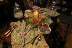 Sage y Rosa de Acción de Gracias 2012 Configuración de la tabla