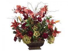 Phalaenopsis-Lily Ranunculus-Large Silk Flower Arrangment ARWF28