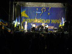 Via Laurent Brayard Concert à #Kiev lors du #Maïdan, propagande européiste et soutien à l'#Ukraine brune