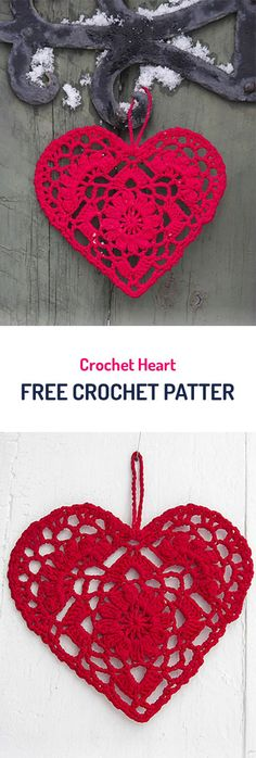 62 new Ideas crochet heart valentine free knitting Crochet Motifs, Thread Crochet, Crochet Doilies, Crochet Flowers, Crochet Lace, Crochet Hearts, Doily Patterns, Heart Patterns, Knitting Patterns