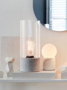 Dane Table Lamp in Marble