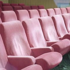 Pink theatre chairs