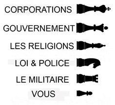 :: CHACUN SA PLACE & LES VACHES ! Des joies du pion sur cette terre... Les multinationales font les lois.  Elles contrôlent nos médias.  Elles gèrent le théâtre politique des élections. Elles imposent les programmes éducatifs.  Le système judiciaire est à leur service.