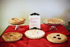 Groom's pie instead of cake. Such a cute idea. »Photo by Abi Ruth