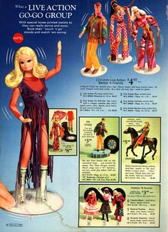 1971 Sears Christmas Wish Book Catalog - Live-Action Barbie and friends.