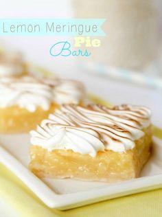 Lemon Meringue Pie Bars -- these always get RAVE reviews! Perfect handheld alternative to regular pie.