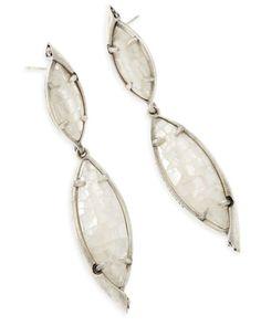 2b9ef6d63 Kendra Scott Maisey Drop Earrings in Ivory Mother of Pearl- Retails   eBay