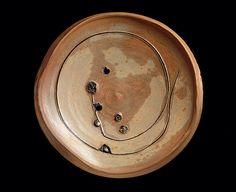 Peter Voulkos (United States, 1924 - 2002-02-16) Large Plate, 1979Ceramic, Unglazed stoneware