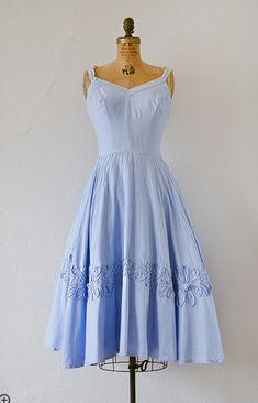 vintage pale blue summer dress