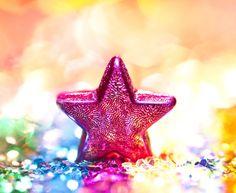 Pink Star on a Burst Of Color