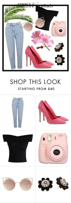 """summer"" by mayrad1 on Polyvore featuring Topshop, Dee Keller, Chicwish, Fujifilm, MANGO and Kate Spade"