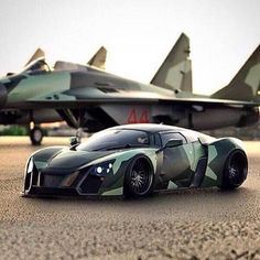 Camo Car and Airplane