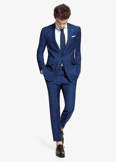 Trajes estampados azul estampado mango Trajes De Hombre 0d0ab21e5af